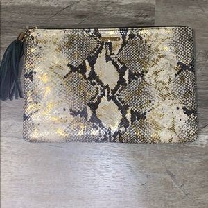 GiGi New York Snakeskin Clutch USED ONCE